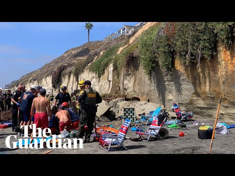 Mike Dellinger - Solana Beach Cliff Comes Down, Footage of the Encinitas Accident.