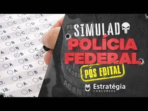 Simulado da PF: Correção do Simulado para Agente da PF (Pós-Edital)