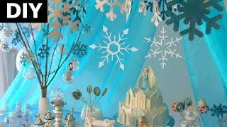 Festa frozen , DIY: decoração com flocos de neve