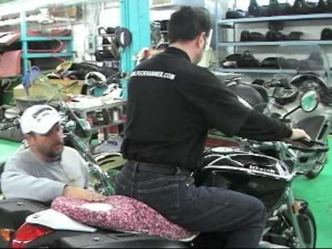 custom motorcycle seats: bmw r1200r - youtube