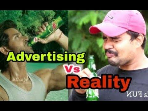 Advertising Vs Reality-Comedy Creators by Comedy Creators cc