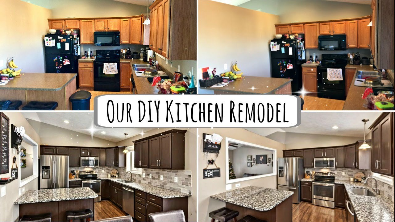 diy small kitchen makeover our diy kitchen remodel rustoleum cabinet 6890