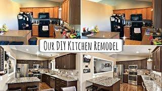 OUR DIY KITCHEN REMODEL :: RUSTOLEUM CABINET TRANSFORMATION KIT :: COMPLETE KITCHEN MAKEOVER