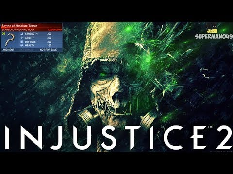 The True Power Of Scarecrow's Legendary Fear Gas... - Injustice 2 Scarecrow Legendary Gear Gameplay