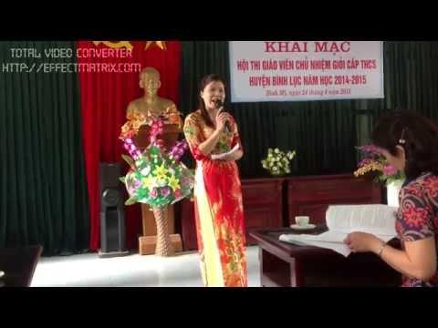Thi giáo viên chủ nhiệm giỏi - Câu hỏi tình huống - Cô Trịnh Thị Hà trường THCS Trung Lương