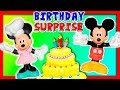 MINNIE MOUSE  Minnie Mouse Bake Shop and Mickey Mouse Surprise Birthday Funny Kids Toys Video