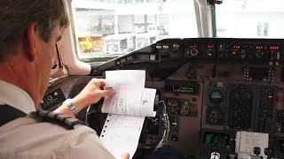 (Cockpit view) SAS McDonnell Douglas MD-82 Takeoff @ Munich - Franz Josef Strauss Airport