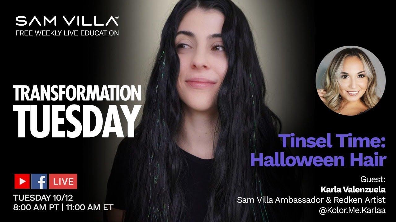 Tinsel Time: Halloween Hair With Karla Valenzuela