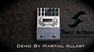 Two Notes Le Clean preamp pedal demo by Martial Allart