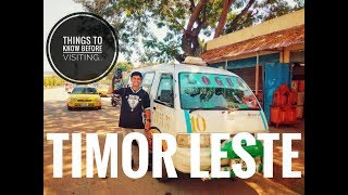 Things to know before visiting Timor Leste
