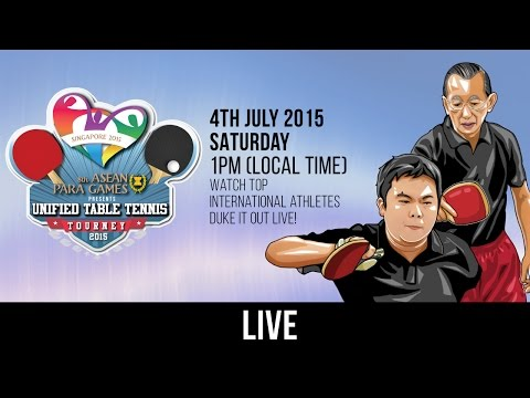8th ASEAN Para Games Presents: Unified Table Tennis Tourney 2015 (Day 1)
