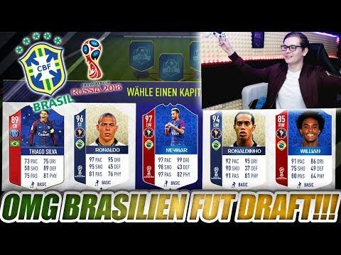 FIFA 18: WORLD CUP BRASILIEN FUT DRAFT CHALLENGE!! 🔥🔥 Ultimate Team - WM 2018