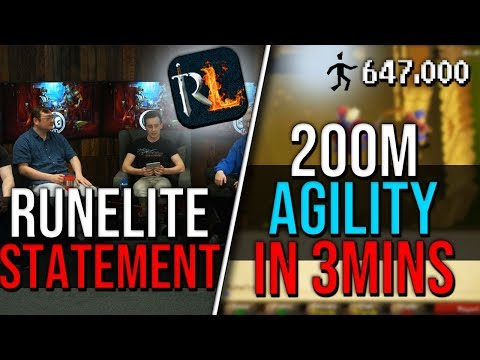 Jagex with RuneLite Statement, He Gets 200M Agility Xp in 3