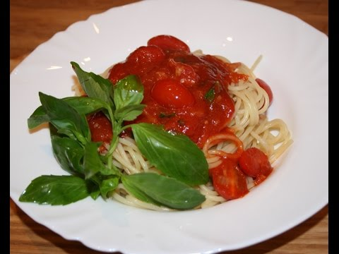 Спагетти с томатным соусом (Паста Аль Арабьята)