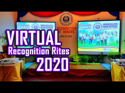 Virtual Recognition Rites 2020 - Immaculata High School