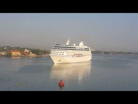 MV Nautica arriving at Cochin Port