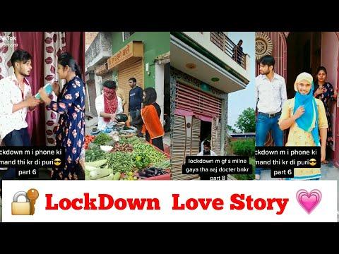 Lock Down Love story funny video | Love in Lockdown Tiktok | Gf Bf Ka Pyaar in Lock down