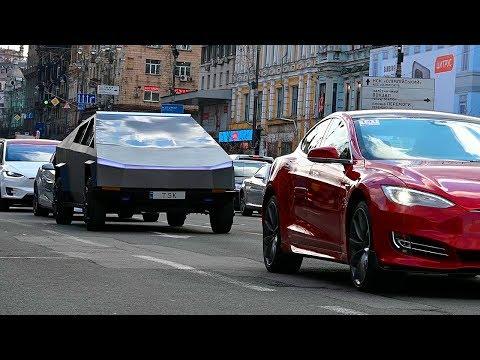 Езжу на #CyberTruck по Украине | Реакция людей - все в шоке от Тесла КиберТрака