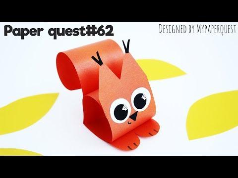 Оригами белочка из бумаги видео