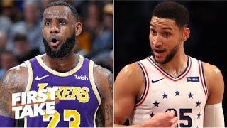 Download Would trading LeBron to the 76ers for Ben Simmon attract Kawhi to the Lakers? | First Take Mp3 and Videos