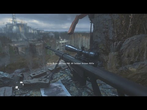 """Modern Warfare Remastered """"All Ghillied Up"""" Sniper Mission Gameplay"""