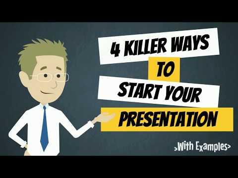 4 Killer Ways To Start Your Presentation Or Speech | How To Start A Speech | Public Speaking