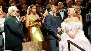 """Lady Gaga and Bradley Cooper in Venice for WORLD Premiere of """"A star is born""""."""