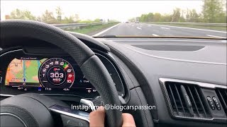 TOP SPEED : NEW AUDI R8 V10 2019 AUTOBHAN