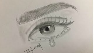 How to Draw Crying Eye for Beginners ��