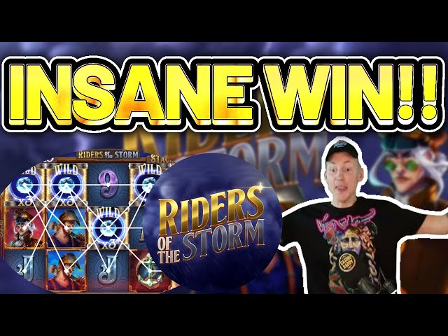 INSANE WIN! Riders of the Storm BIG WIN - HUGE WIN on slot from Thunderkick