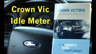 ford crown victoria police interceptor p71 p7b idle meter