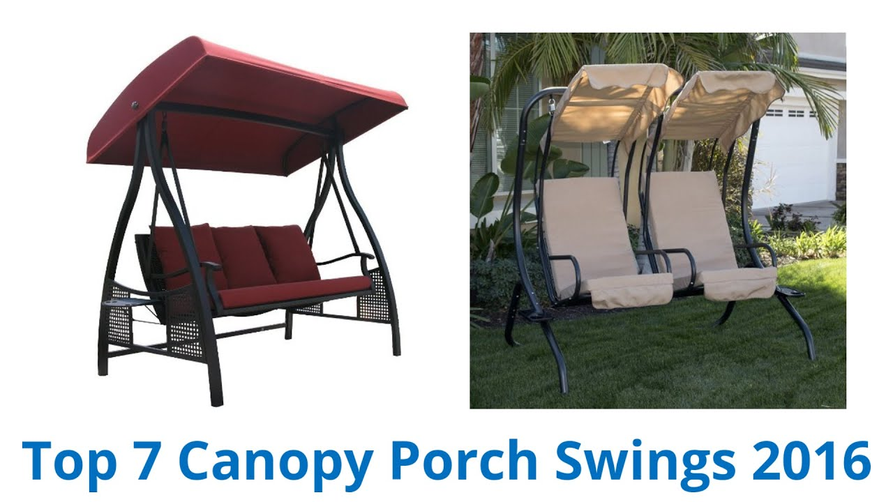 7 Best Canopy Porch Swings 2016