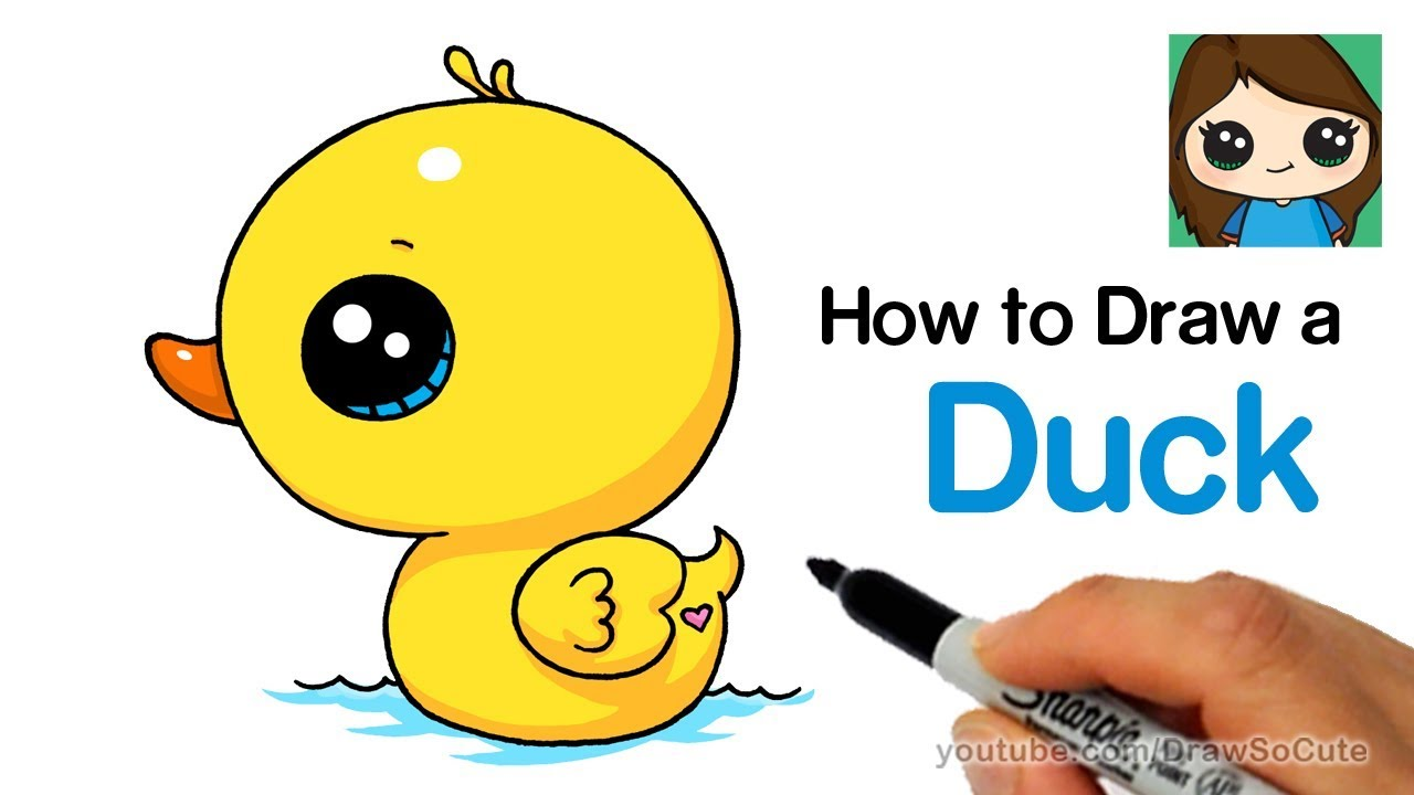 Epic Angry Birds Timelapse Drawings Cool Music: How To Draw A Duck Super Easy And Cute