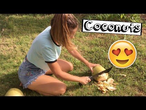 Мой первый кокос! Fitness Guam Vlog #2