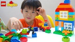 Xavi and Lego Duplo House