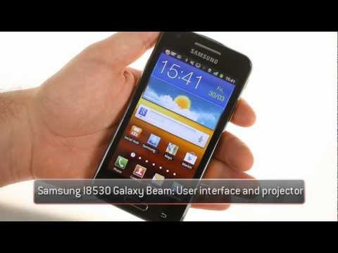Samsung I8530 Galaxy Beam UI and projector demo
