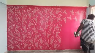 How to do wall painting design yourself | wall painting art easy