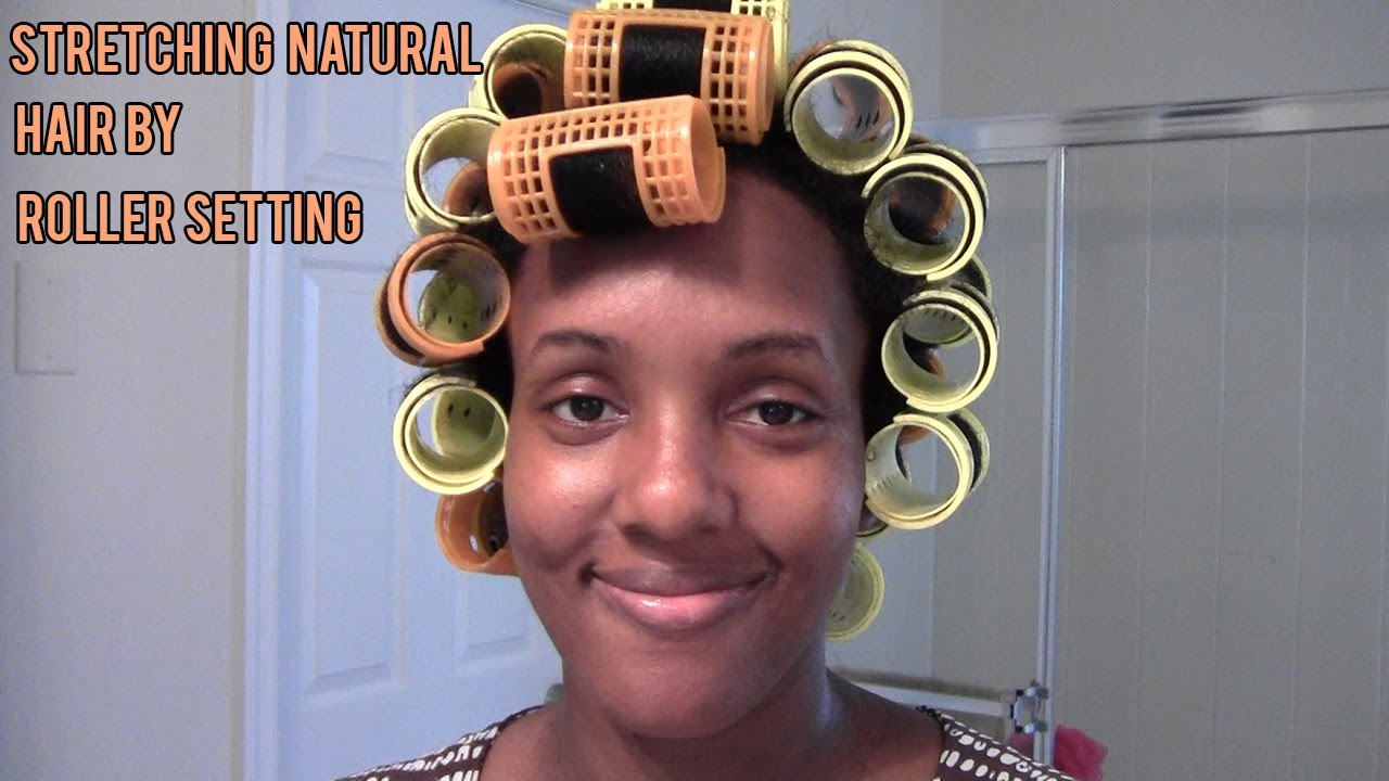 Natural Hair Styles Stretching Natural Hair By Roller