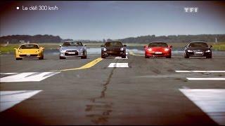 dfi porsche 911 vs ferrari 458 spider vs corvette zr1 vs audi r8 vs nissan gt r