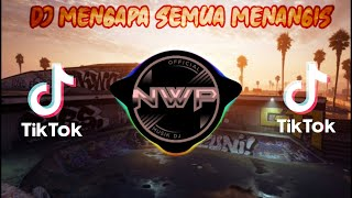 Download DJ MENGAPA SEMUA MENANGIS PADAHAL KU SELALU TERSENYUM REMIX TIK TOK VIRAL 2021 FULL BASS