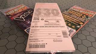 FULL $600 BOOK OF THE $30 GOLDEN TICKET FROM THE MISSOURI LOTTERY! PLUS OVER $100 IN SUB TIX!!