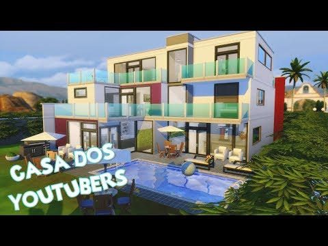 Casa dos Youtubers de Portugal │The Sims 4 (Speed Build)