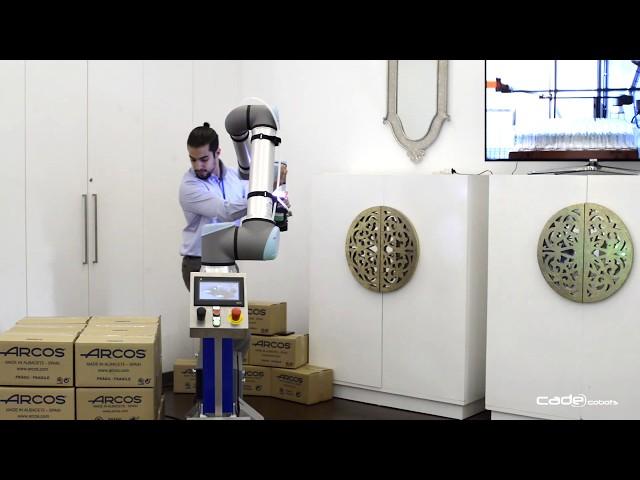 Demo de robótica colaborativa de CADE Cobots en ITECAM B2B