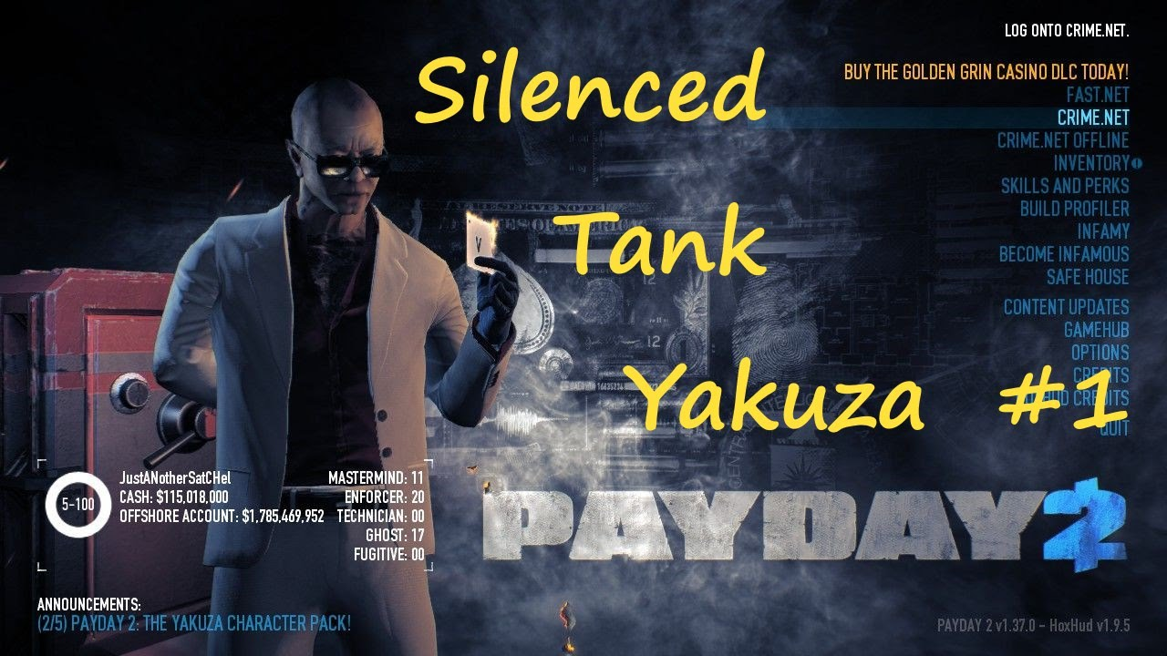 Payday 2 Hoxton Breakout Overkill Day1 With Silenced Tank Yakzua