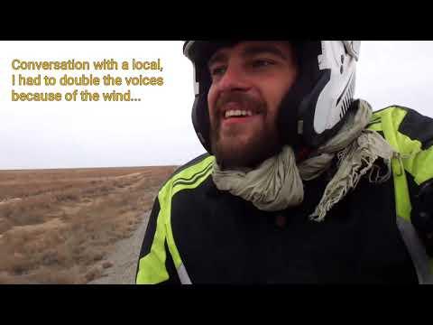 MAEL POITOU   Part 7   KARAKALPAKSTAN & KAZAKHSTAN.  A motorbike trip from INDIA to FRANCE