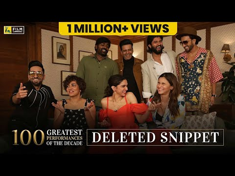 Deleted Snippet | Actors Adda | Anupama Chopra | Film Companion