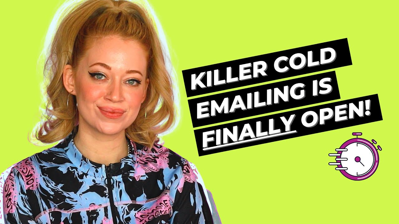 My FREELANCE WRITING COURSE, Killer Cold Emailing, is OPEN NOW! 🎉🎉