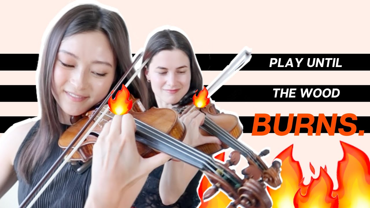 Navarra for 2 violins was written to create friction fire. 🔥