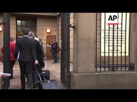 Court arrivals as SAfrican prosecutor seeks appeal in Pistorius case