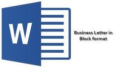 Business Letter - Block Format